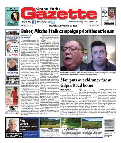 Grand Forks Gazette/West Kootenay Advertiser, November 25, 2020