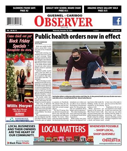 Quesnel Cariboo Observer, November 25, 2020