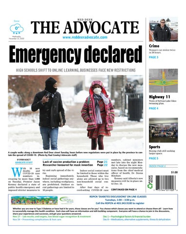 Red Deer Advocate, November 25, 2020