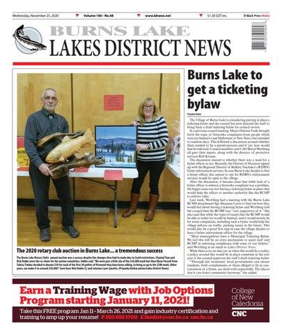 Burns Lake Lakes District News, November 25, 2020