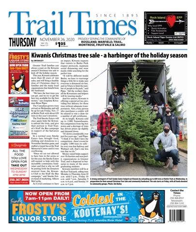 Trail Daily Times/West Kootenay Advertiser, November 26, 2020