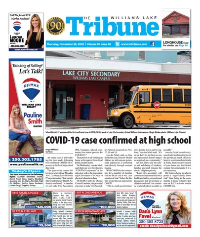 Williams Lake Tribune, November 26, 2020