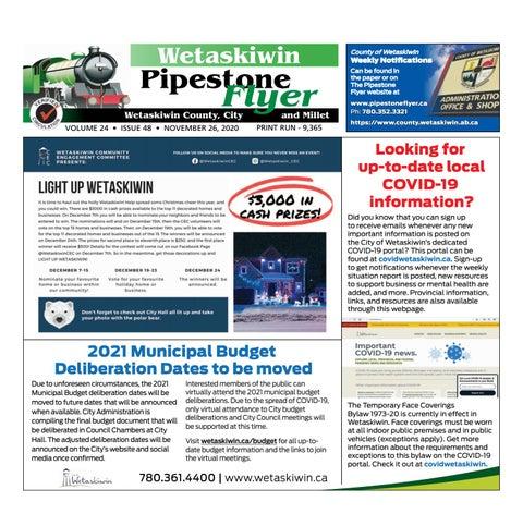 November 26, 2020 Pipestone Flyer