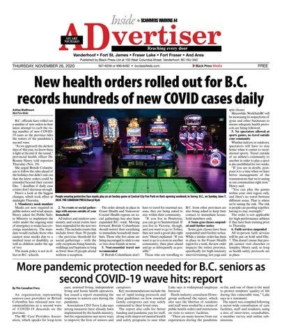Caledonia Courier/Stuart Nechako Advertiser, November 26, 2020