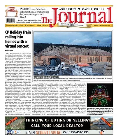 Ashcroft Cache Creek Journal, December 3, 2020