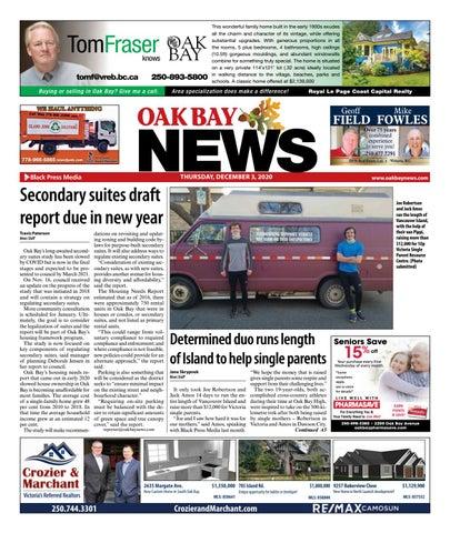 Oak Bay News, December 3, 2020