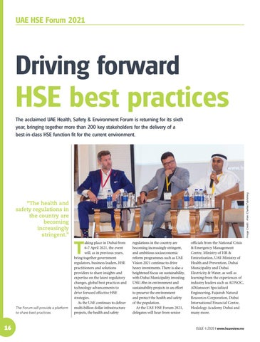 Driving forward HSE best practices