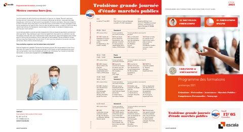 Escala Franstalige opleidingen voorjaar 2021