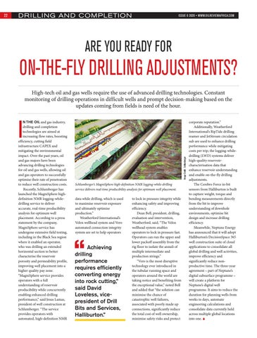 Are you ready for on-the-fly drilling adjustments?