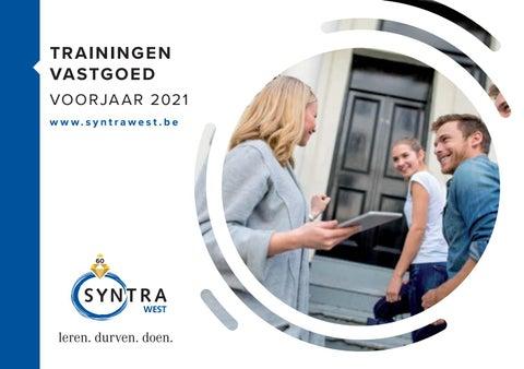Syntra West trainingen vastgoed voorjaar 2021