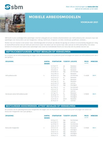 SBM Mobiele arbeidsmiddelen VJ 2021