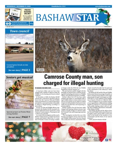 Bashaw Star, December 23, 2020