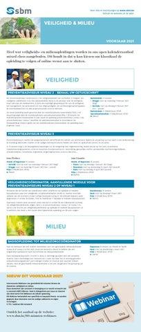 SBM Veiligheid en milieu VJ 2021