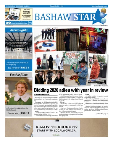 Bashaw Star, December 30, 2020