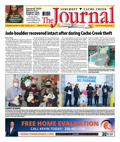 Ashcroft Cache Creek Journal, December 31, 2020