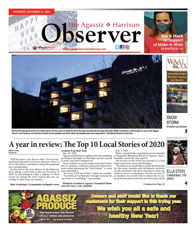 Agassiz Observer, December 31, 2020