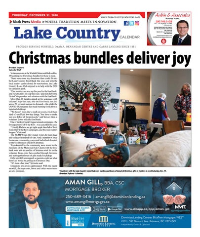 Lake Country Calendar, December 31, 2020