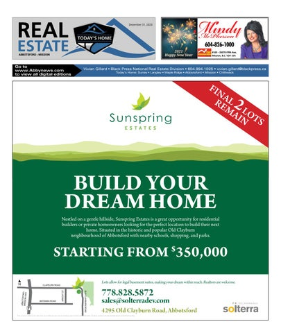 December 31, 2020 Real Estate Weekly - Abbotsford