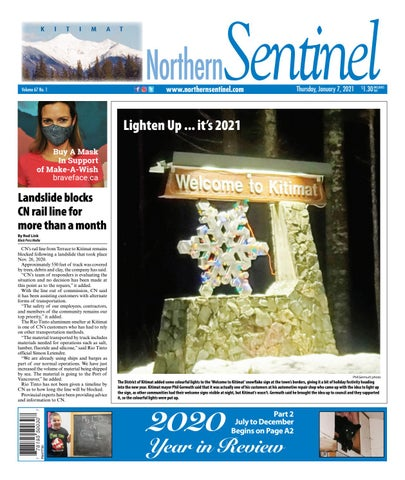 Kitimat Northern Sentinel/Northern Connector, January 7, 2021
