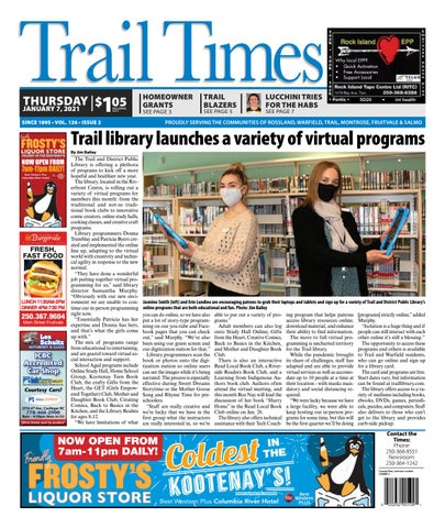 Trail Daily Times/West Kootenay Advertiser, January 7, 2021