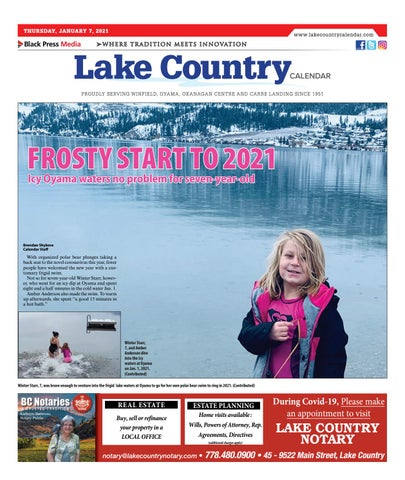 Lake Country Calendar, January 7, 2021