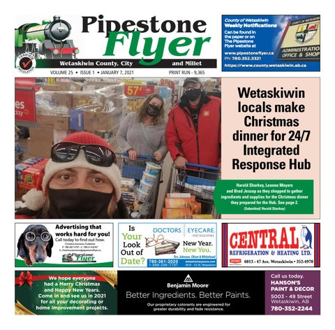 Wetaskiwin/Millet Pipestone Flyer, January 7, 2021