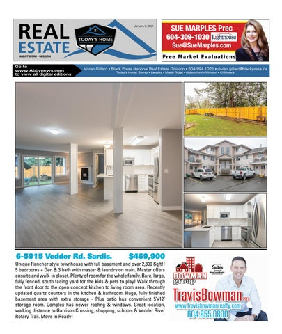 January 08, 2021 Real Estate Weekly - Abbotsford