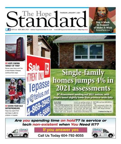 Hope Standard, January 8, 2021