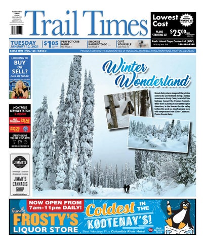 Trail Daily Times/West Kootenay Advertiser, January 12, 2021