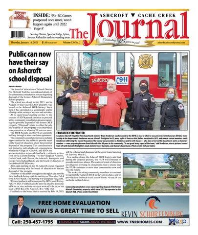 Ashcroft Cache Creek Journal, January 14, 2021