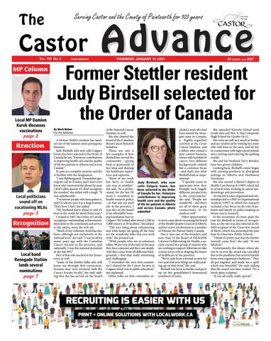 Castor Advance, January 14, 2021