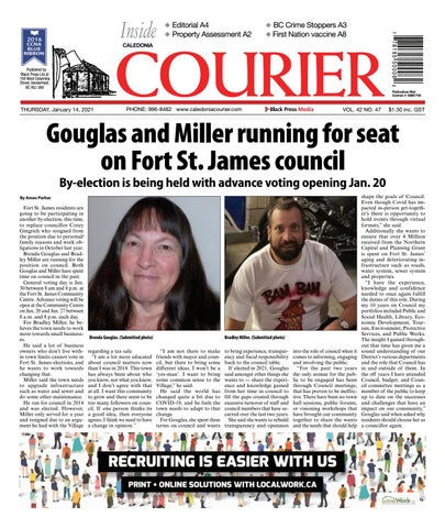 Caledonia Courier/Stuart Nechako Advertiser, January 14, 2021