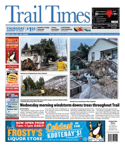 Trail Daily Times/West Kootenay Advertiser, January 14, 2021