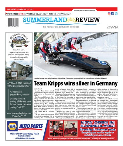 Summerland Review, January 14, 2021