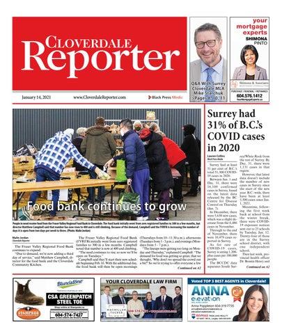 Cloverdale Reporter, January 14, 2021