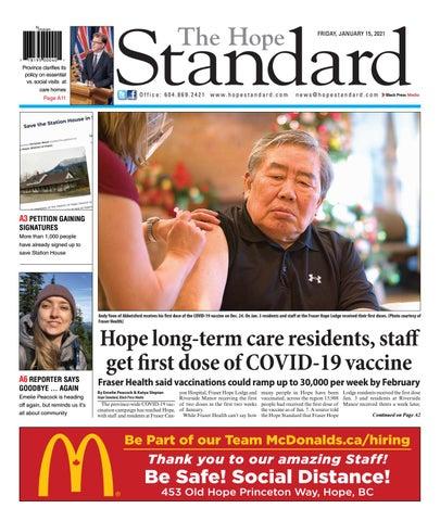 Hope Standard, January 15, 2021