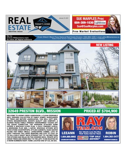 January 15, 2021 Real Estate Weekly - Abbotsford