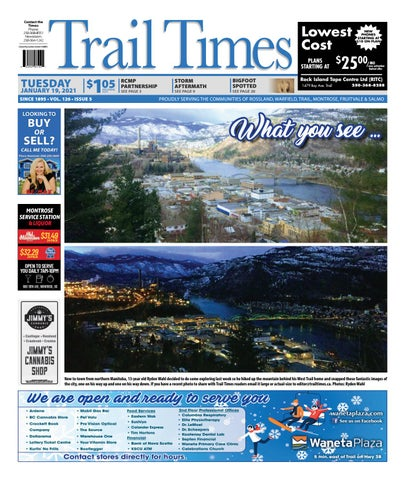 Trail Daily Times/West Kootenay Advertiser, January 19, 2021
