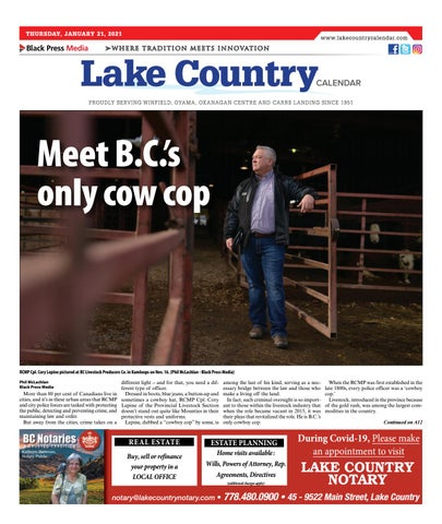 Lake Country Calendar, January 21, 2021