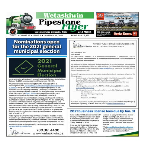 January 21, 2021 Pipestone Flyer