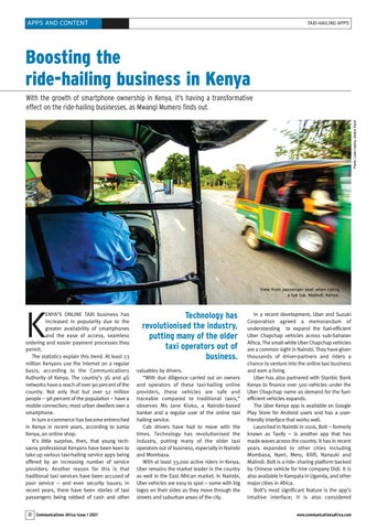 Boosting the ride-hailing business in Kenya