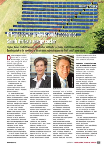 Off-grid power projects could modernise South Africa's energy sector