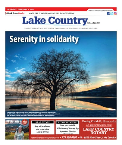 Lake Country Calendar, February 4, 2021