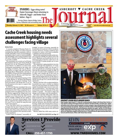 Ashcroft Cache Creek Journal, February 11, 2021
