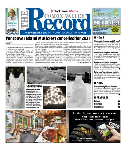 Comox Valley Record, February 17, 2021