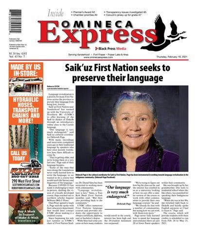 Vanderhoof Omineca Express/Stuart Nechako Advertiser, February 18, 2021