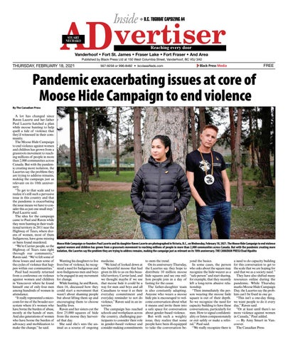 Caledonia Courier/Stuart Nechako Advertiser, February 18, 2021