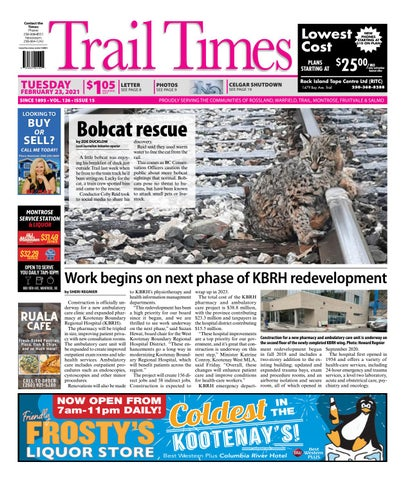 Trail Daily Times/West Kootenay Advertiser, February 23, 2021