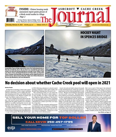 Ashcroft Cache Creek Journal, February 25, 2021