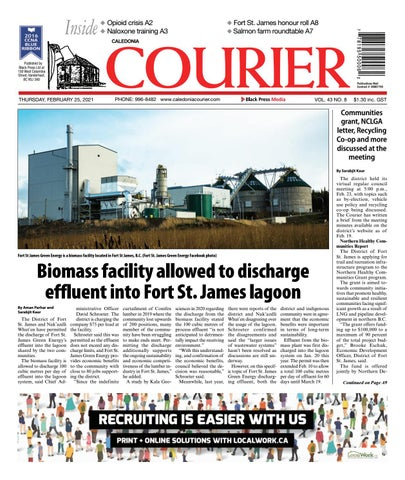 Caledonia Courier/Stuart Nechako Advertiser, February 25, 2021
